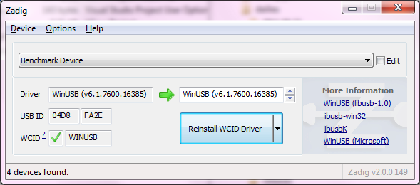 Tidssvarende Zadig - USB driver installation made easy GZ-86